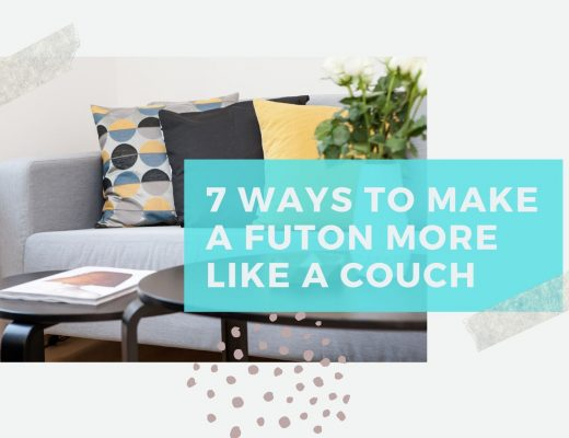 how to make futon more like a couch