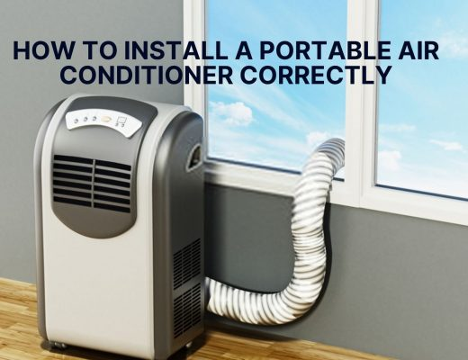Install portable air conditioner correctly
